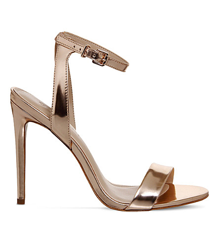 OFFICE Alana metallic leather sandals (Rose+gold+leather