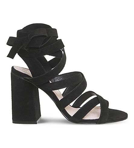 OFFICE Ashley suede heeled sandals (Black+suede