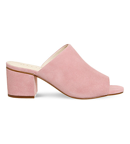 OFFICE Madness block heel mule sandals (Pink suede