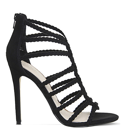 OFFICE Adder plait heeled sandals (Black