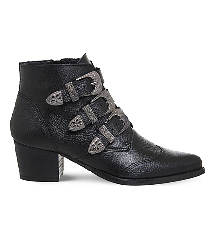 OFFICE Jagger multi-buckle leather boots