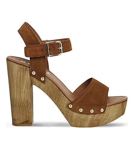 OFFICE Amazonian suede platform sandals (Tan+suede