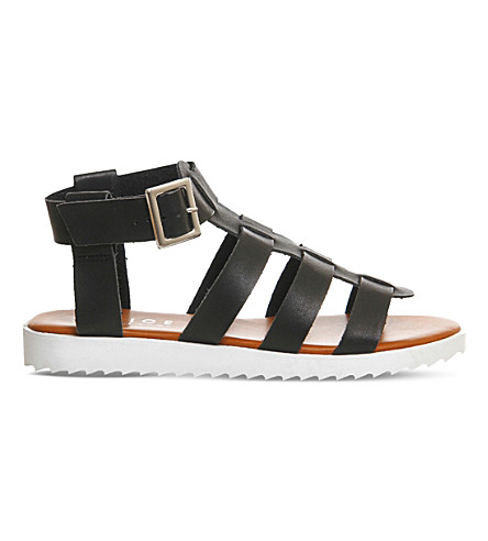 OFFICE Brody gladiator faux leather sandals (Black