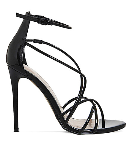 OFFICE Angel patent strappy sandals (Black+patent