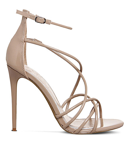 OFFICE Angel patent strappy sandals (Nude-patent
