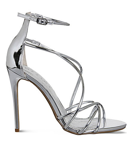 OFFICE Angel metallic heeled sandals (Silver+mirror