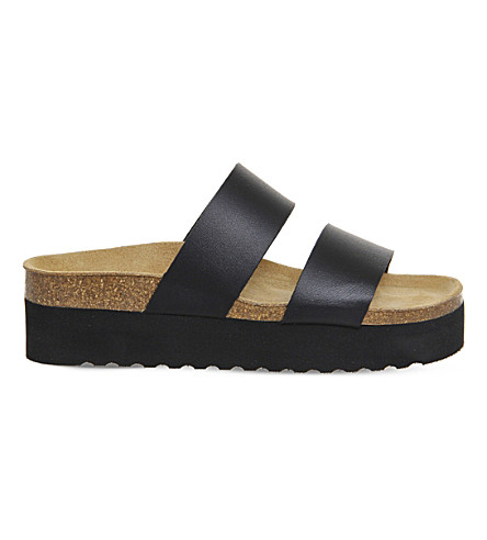 OFFICE Magnetic flatform sandals (Black