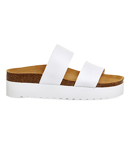OFFICE Magnetic flatform sandals (White