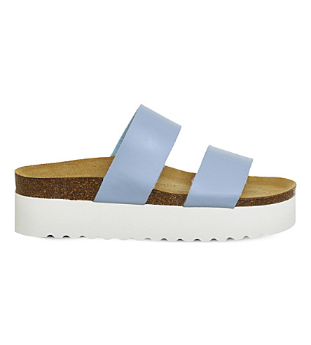 OFFICE Magnetic flatform sandals (Blue