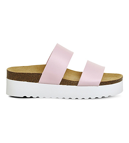 OFFICE Magnetic double strap flatform sandals (Pink