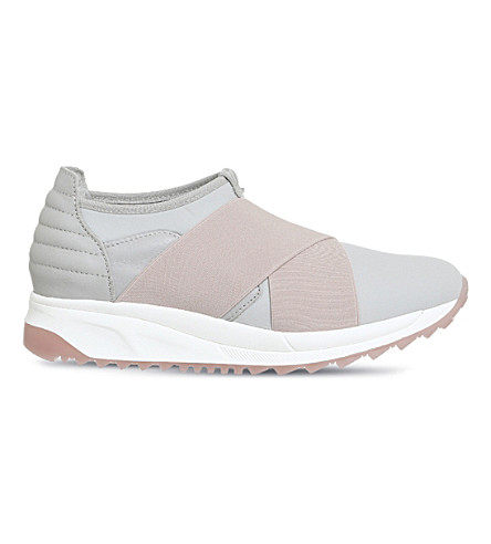 OKI KUTSU Sakura cross-strap neoprene trainers (Pink+grey+ice