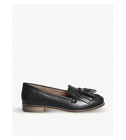 OFFICE Penny tassel leather loafers (Black+leather