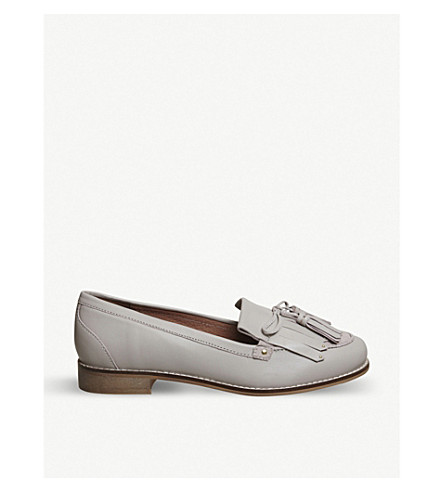 OFFICE Penny Tassel leather loafers (Grey+leather