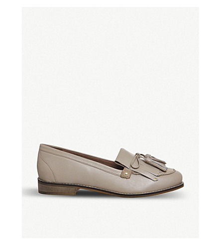 OFFICE Penny tassel leather loafers (Nude+leather+suede