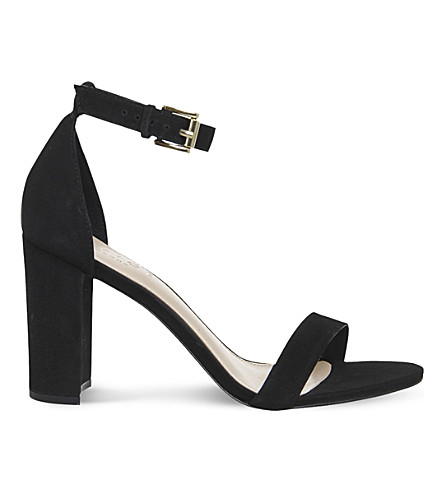 OFFICE Nina block heel nubuck sandals (Black+nubuck