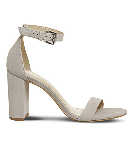 OFFICE Nina block heel nubuck sandals (Light+grey+nubuck