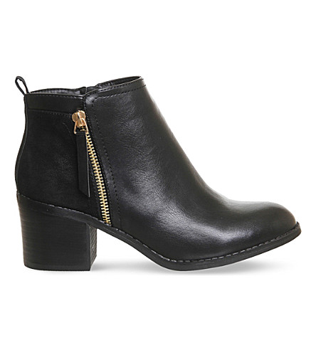 OFFICE Lola double zip ankle boots (Black