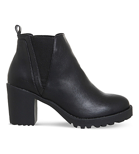 OFFICE Limit chunky faux-leather chelsea boots (Black