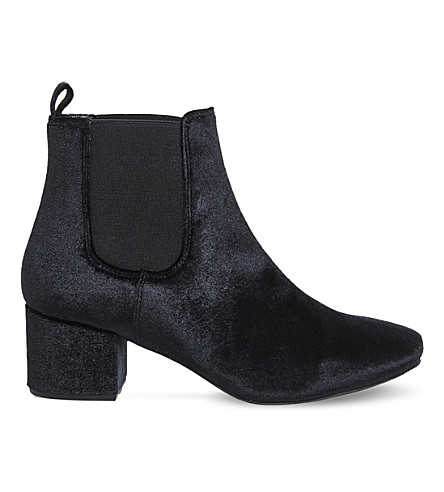 OFFICE Love bug velvet chelsea boot (Black velvet