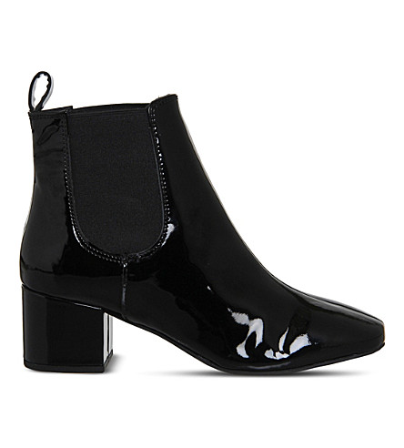 OFFICE Love Bug Chelsea boots (Black patent leather