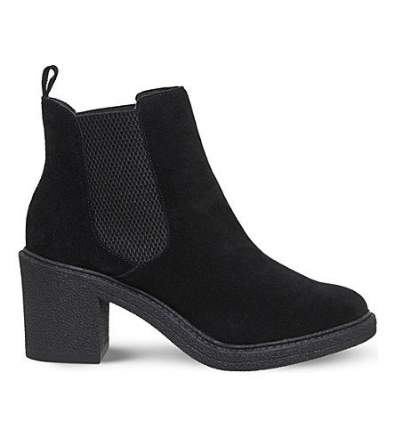 OFFICE Loco suede chelsea boots (Black suede