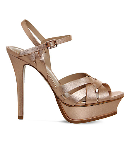 OFFICE Nostalgia metallic-leather sandals (Rose+gold+leather