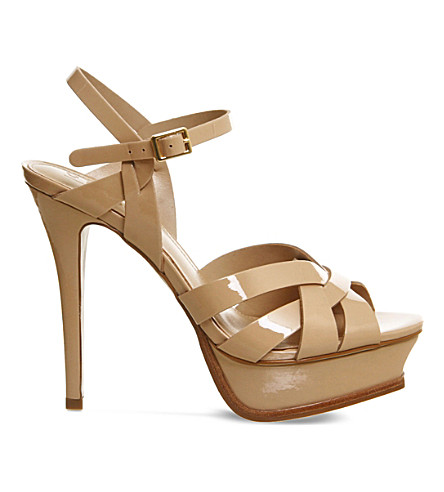 OFFICE Nostalgia patent-leather heeled sandals (Nude+patent+leather