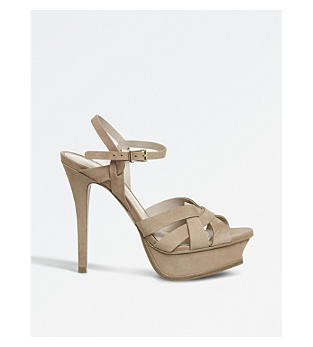 OFFICE Nostalgia nubuck heeled sandals (Nude+nubuck
