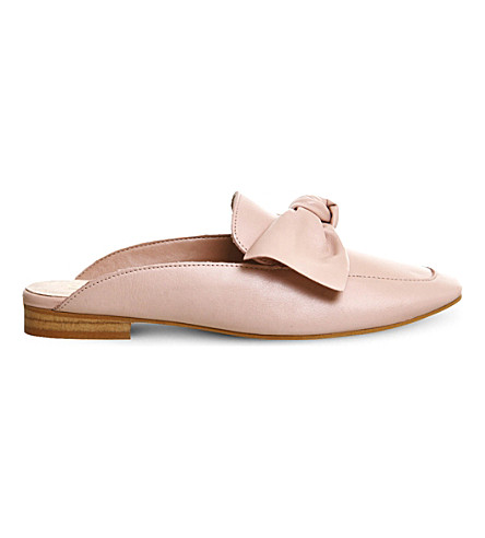 OFFICE Dance bow leather mules (Pink leather