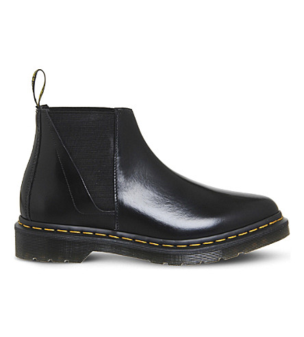 OFFICE Bianca low-top leather chelsea boots (Black+leather