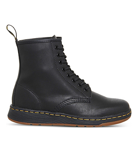DR. MARTENS Newton Lite leather boots (Black+leather