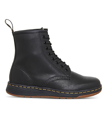 DR. MARTENS Newton Lite leather boots (Black+leather