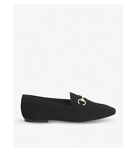 OFFICE Destiny suede loafers (Black+suede