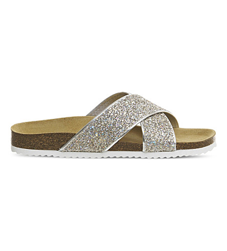 OFFICE Hoxton 2 glitter sandals (Pink+iridescent