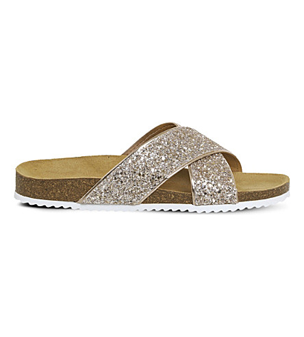 OFFICE Hoxton 2 glitter sandals (Rose+gold+glitter