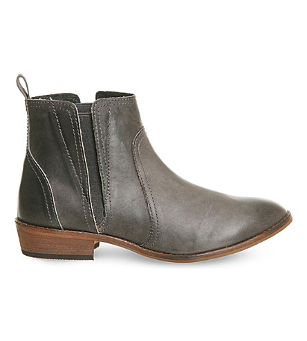OFFICE Lone Ranger leather ankle boots (Grey+leather