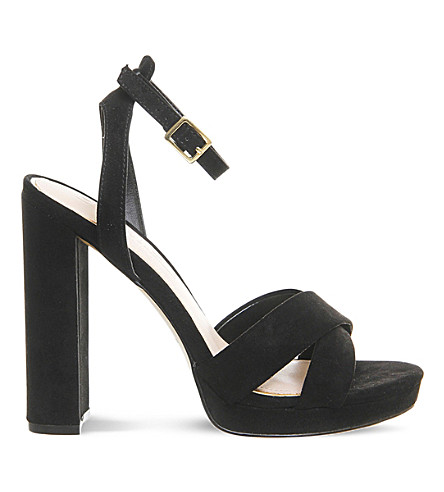 OFFICE Nickle suedette platform sandals (Black