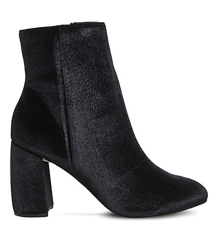 OFFICE Literally high-cut velvet boots (Black+velvet