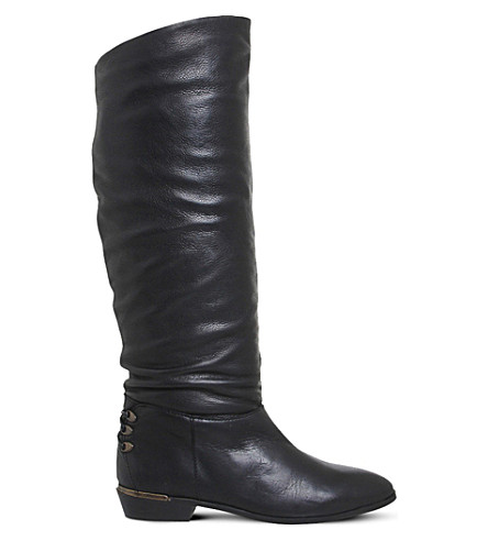 office kyle leather knee high boots selfridges