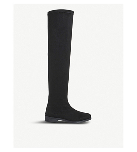 OFFICE Kung fu over-the-knee boots (Black