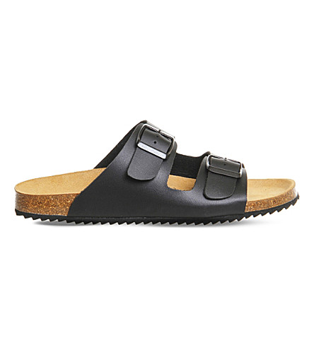 OFFICE Hype 2 double strap sandals (Black