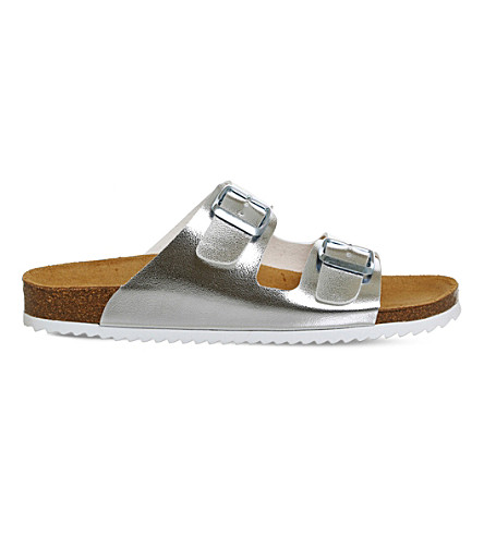 OFFICE Hype 2 metallic double strap sandals (Silver
