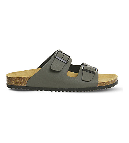 OFFICE Hype 2 double strap sandals (Khaki
