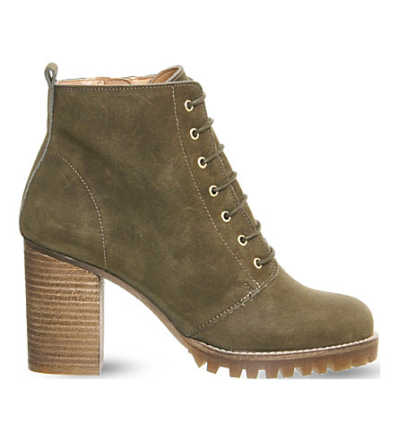 OFFICE Loose lipped lace up ankle boots