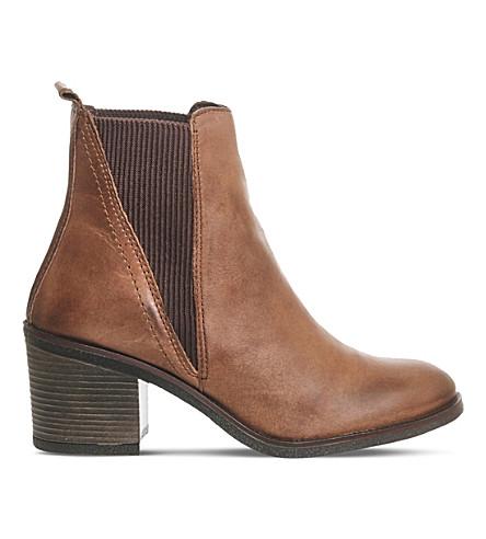 OFFICE Lasoo mid-heel chelsea boots (Brown leather
