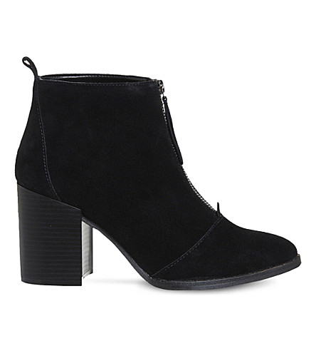 OFFICE Loopy zipped suede ankle boots (Black-suede