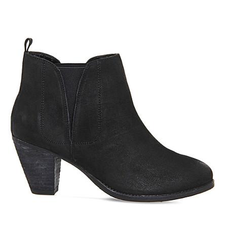 OFFICE Lassie leather chelsea boots (Black nubuck
