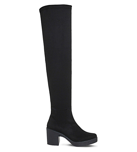 OFFICE Khloe stretch over-the-knee boot (Black