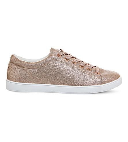 OFFICE Penelope glittered trainers (Rose+gold+glitter