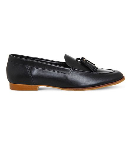 OFFICE Petra leather loafers (Black+leather